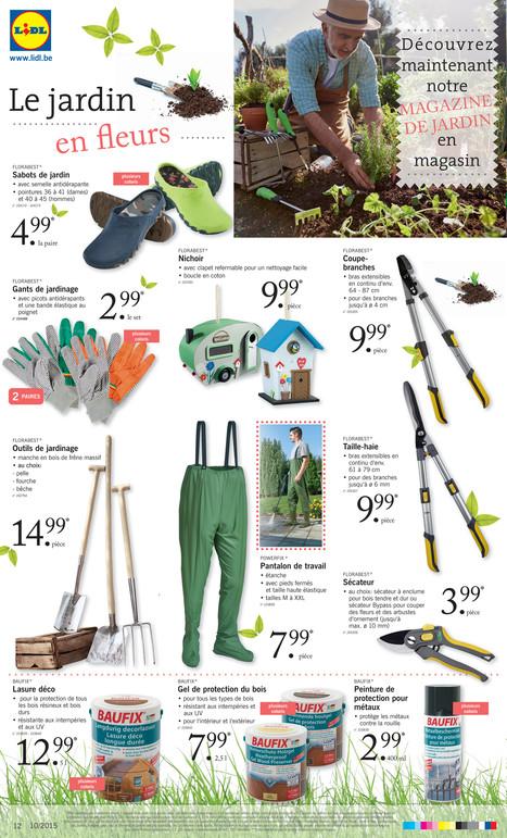 partir du jeudi florabest 5 mars tagre de jardin au choix tagre - Lidl Jardin