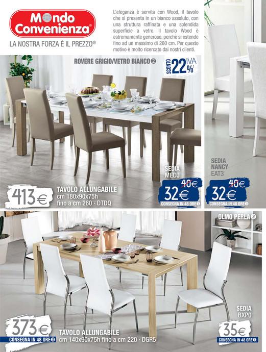 Tavolo wood mondo convenienza interesting tavoli e sedie for Tavolo quadrato mondo convenienza