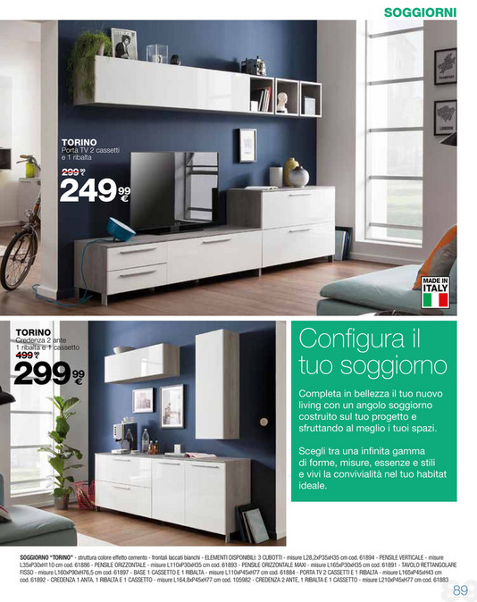 Awesome Conforama Catalogo Soggiorni Contemporary - Idee per la casa ...