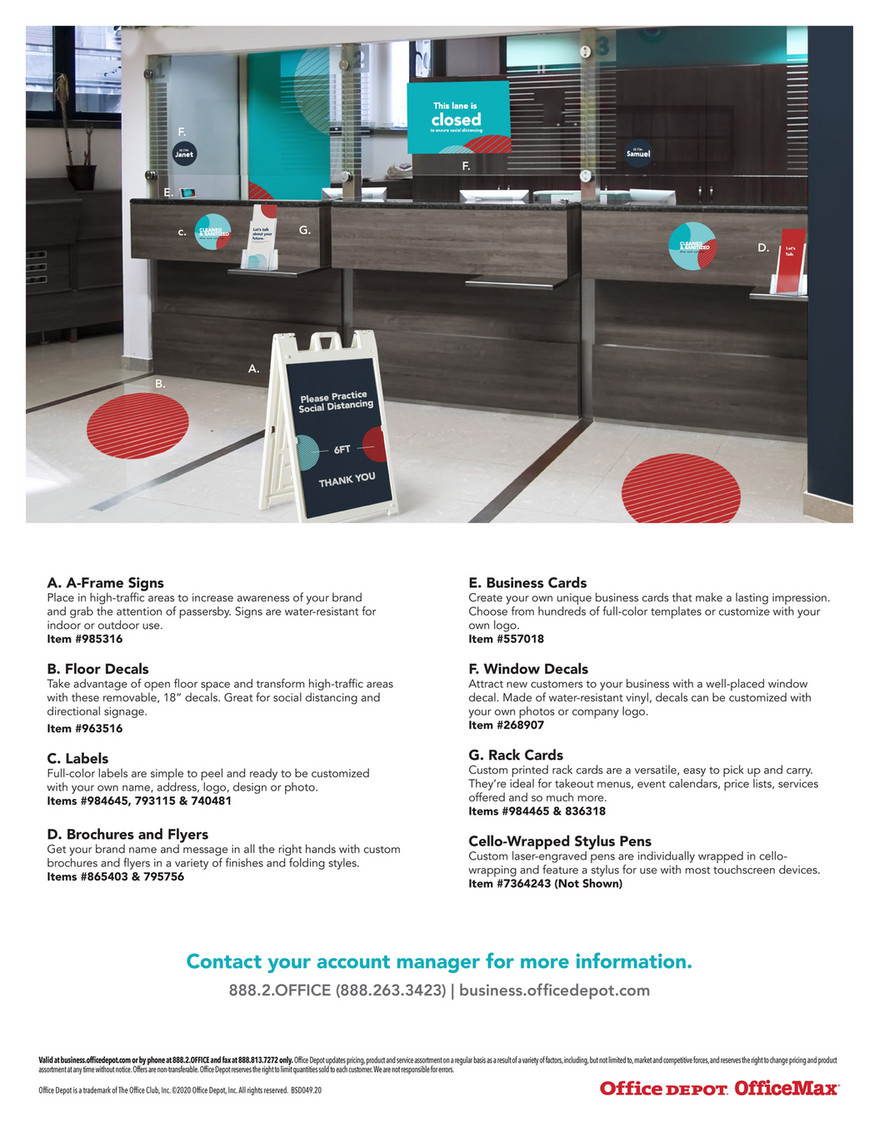 Office Depot Print Services For Banking A Frame Signs