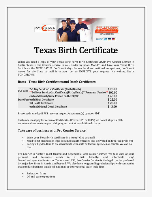 My publications - Texas Birth Certificate - Page 1 - Created with ...