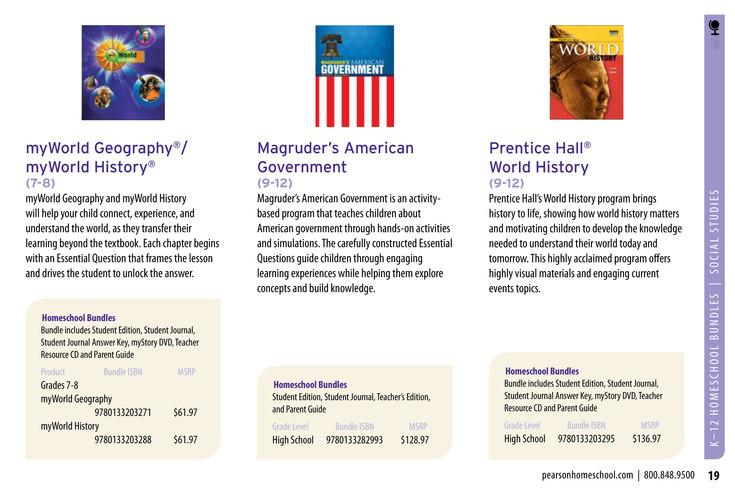 Pearson - Homeschool Catalog 2015 - Page 18-19 - Created