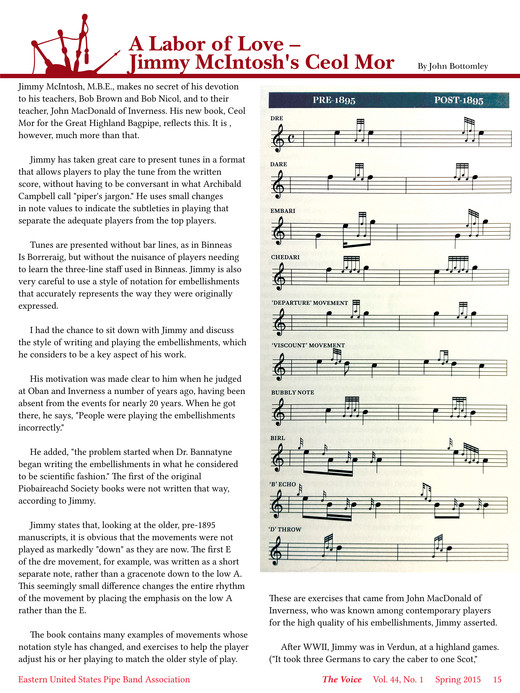 The Voice - The Voice Spring 2015 - Page 14-15 - Created