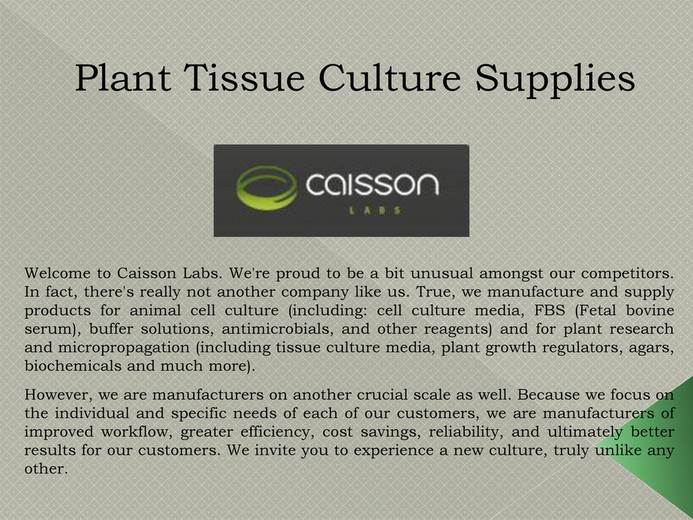 caissonlabs - Plant Tissue Culture Supplies - Page 1 - Created with