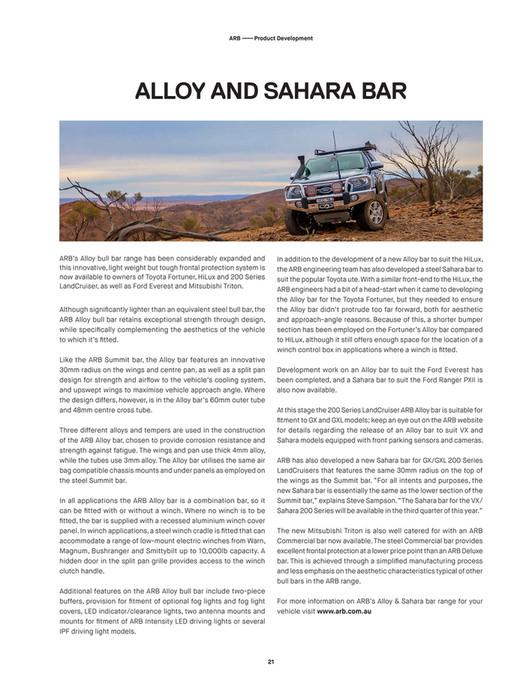 ARB 4x4 Accessories - ARB 4X4 Culture International - Issue
