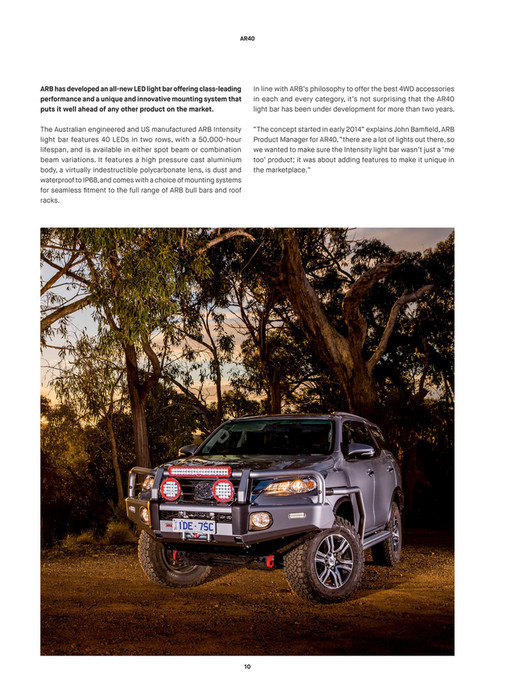 Arb 4x4 accessories arb 4x4 culture issue 47 page 10 11 ar40 arb has developed an all new led light bar offering class leading performance mozeypictures Choice Image