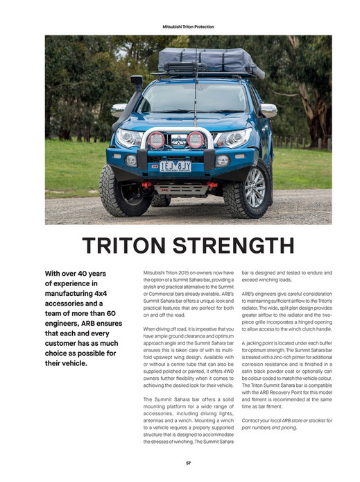 ARB 4x4 Accessories - ARB 4x4 Culture Issue 51 - Page 56-57