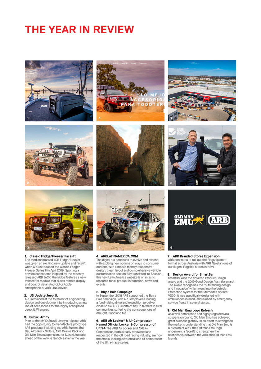 ARB 4x4 Accessories - 2019 ANNUAL REPORT - Page 1