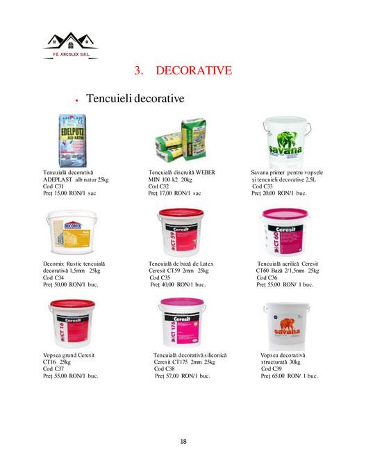Tencuiala Decorativa Ceresit Pret.Catalog Pagină 18 19 Created With Publitas Com