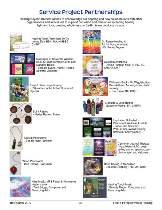 Healing Beyond Borders - 4th Quarter 2017 Newsletter - Page 26-27