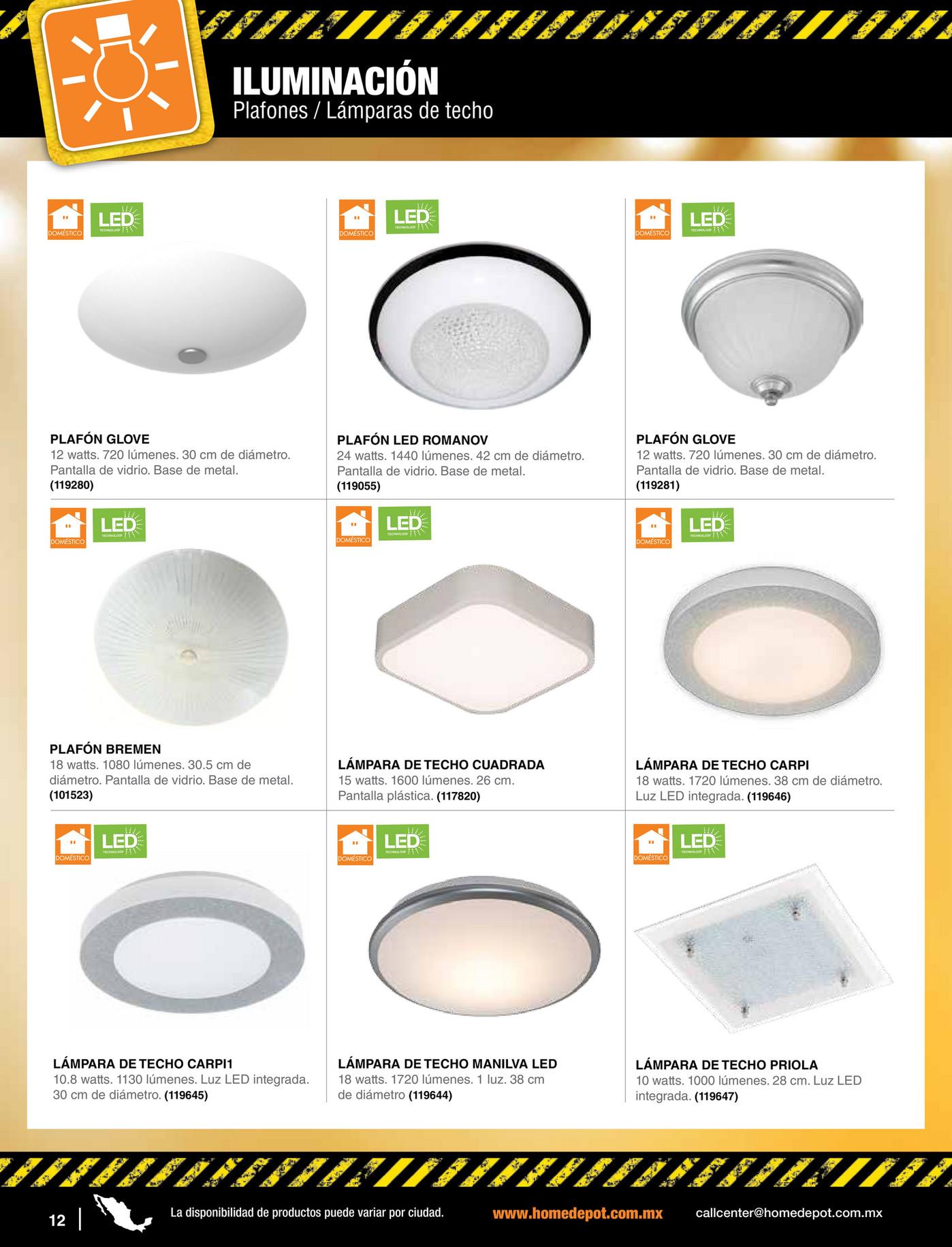 Cat logo de ventas a profesionales the home depot m xico p gina 158 159 - Catalogos de lamparas de techo ...