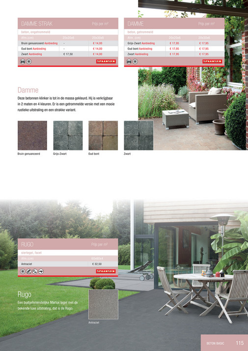 d5a3667cc4329d DAMME STRAK Prijs per m² DAMME Prijs per m² beton, getrommeld beton,  ongetrommeld Afm