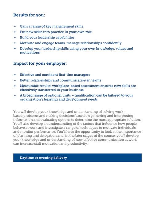 Blackburn College - Management Skills, Development