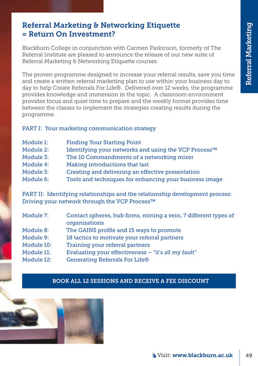 Blackburn College - Professional Courses - Page 48-49 - Created with
