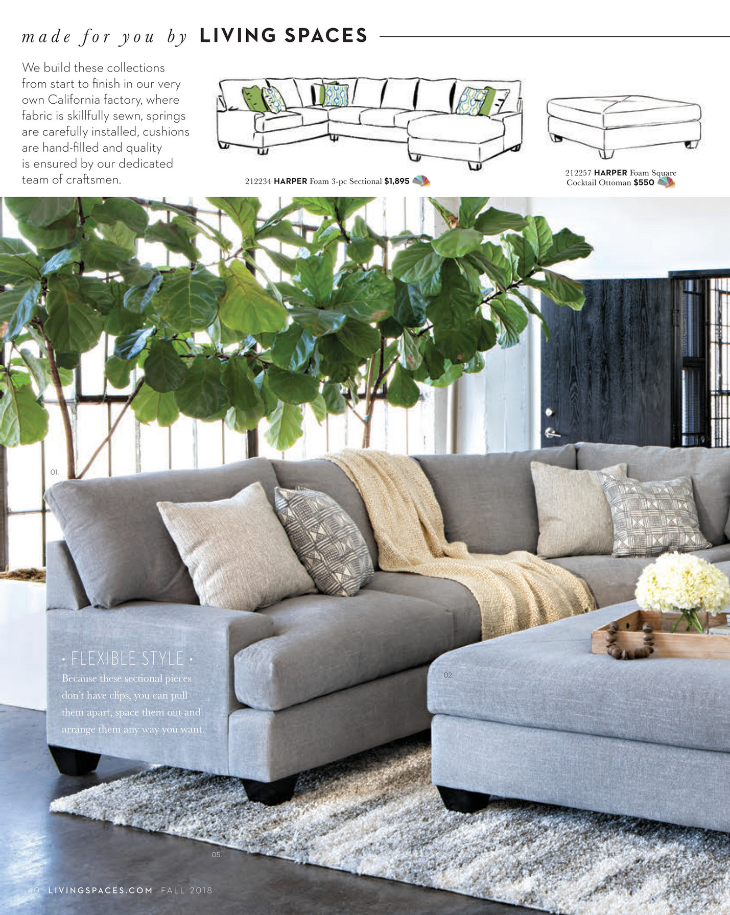 Astonishing Living Spaces Fall 2018 Mesa Foam Ii Sofa Creativecarmelina Interior Chair Design Creativecarmelinacom