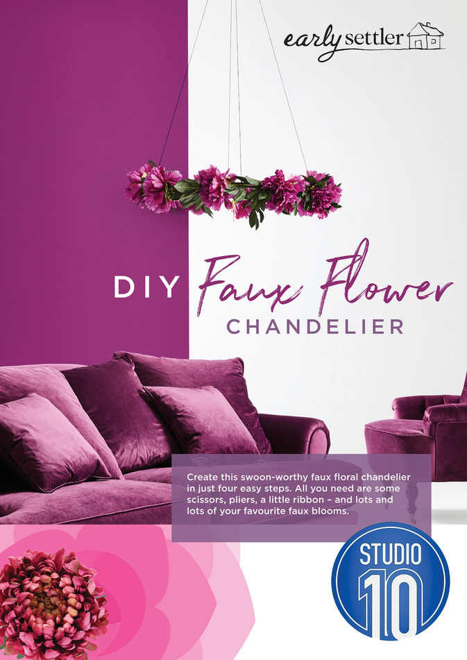 Diy Faux Flower Chandelier Create This Swoon Worthy Fl In Just Four Easy