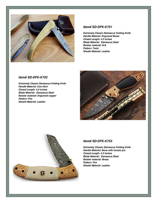 Smid Damascus - Combined Catalog - Page 20-21 - Created with