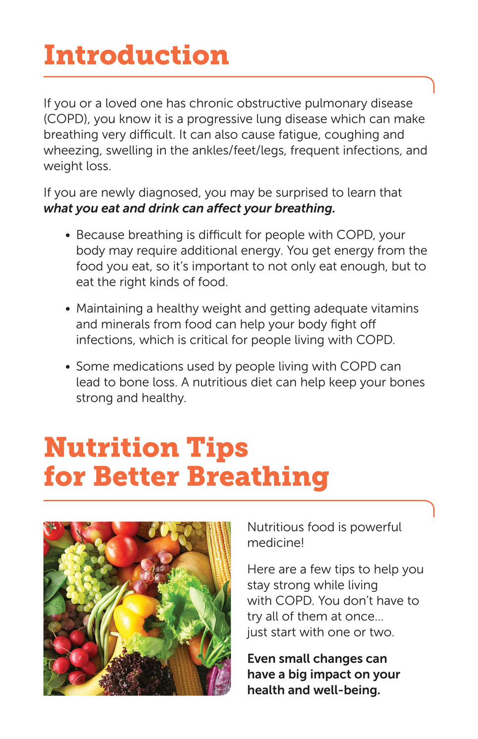 how can emphysema affect diet