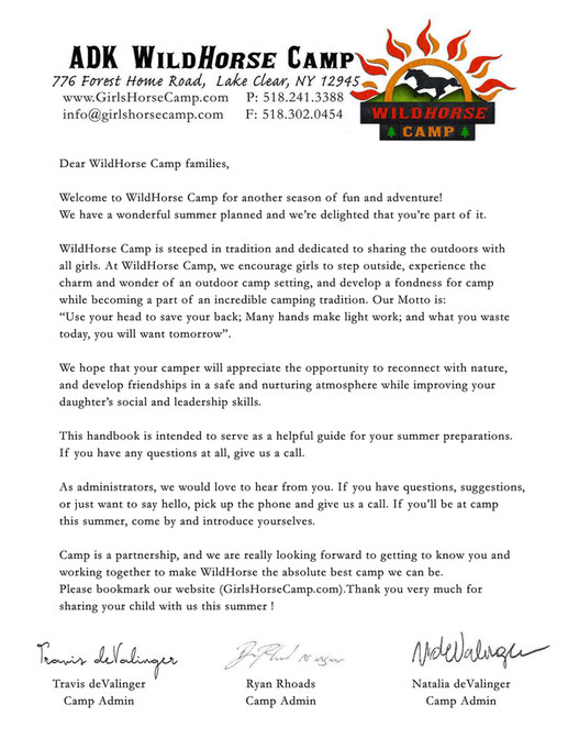Projects - WildHorse Camp Book & Manual - Page 2-3 - Created