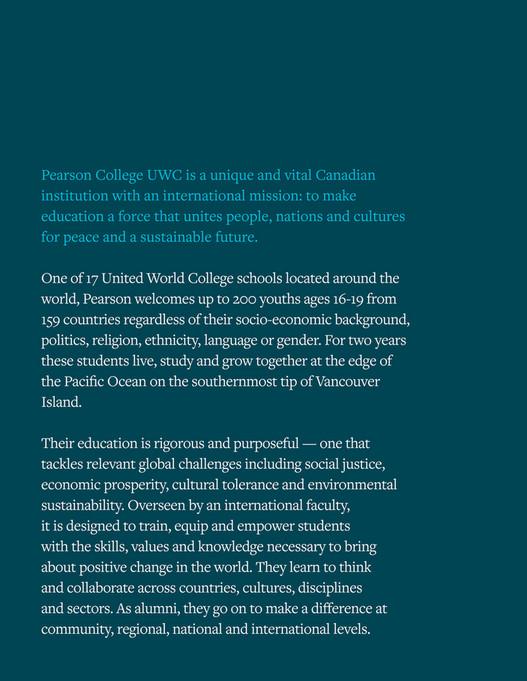 Pearson College UWC - Pearson College UWC — Canada's School