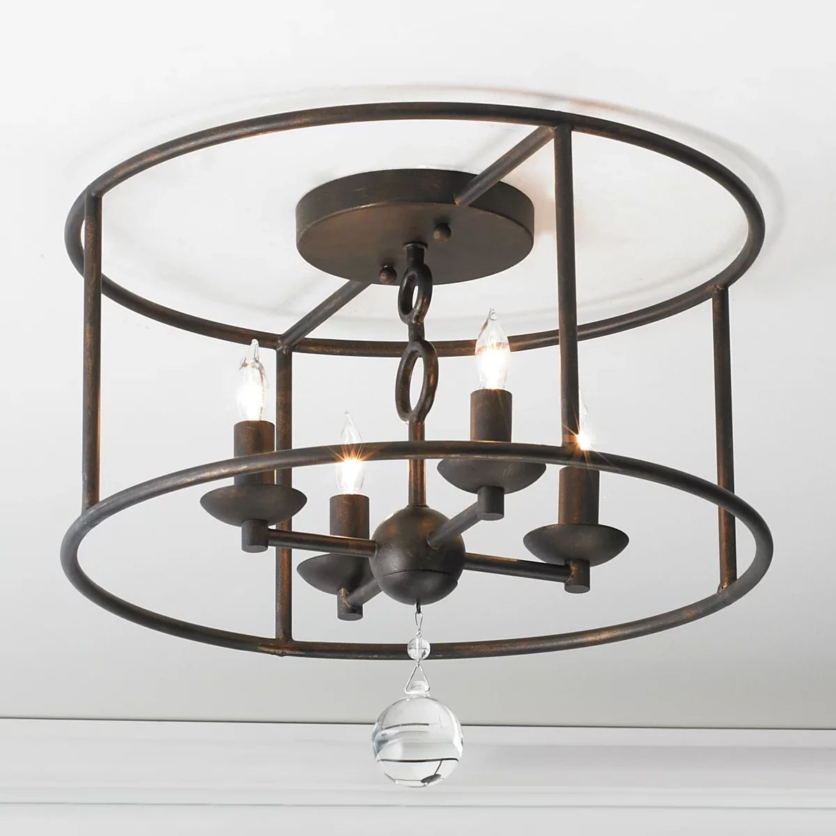 Modern Cage Ceiling Chandelier