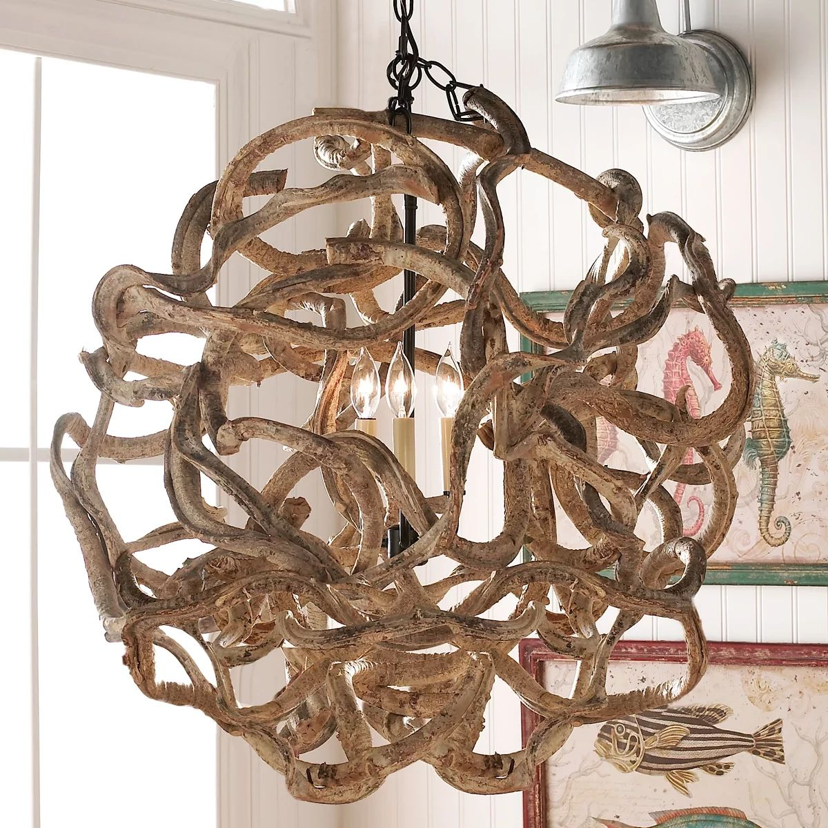 vine chandelier rustic chandeliers monterey inverted black branches