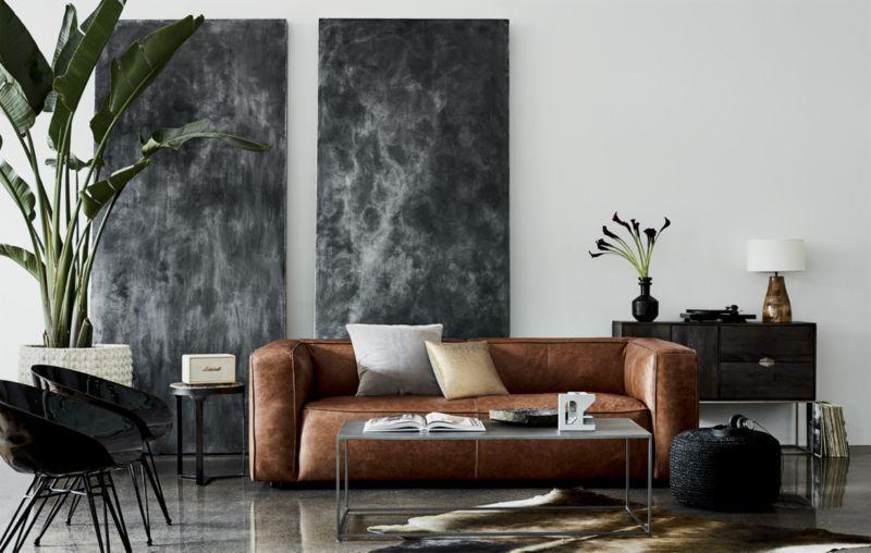 Image 3 of Lenyx Cognac Leather Sofa
