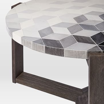 West Elm March 2018 Mosaic Coffee Table Isometric Concrete