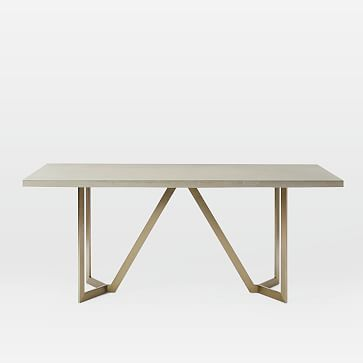 West Elm July 2017 Tower Dining Table 72 Concrete